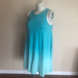 Crown & Ivy Blue Ombre A-Line Summer Dress S New